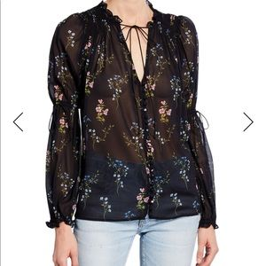 For Love And Lemons Tops - For love and lemons floral blouse